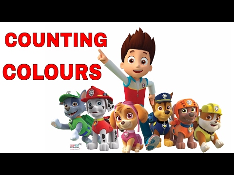 LEARN COUNTING COLOURS AND NUMBERS WITH PAW PATROL EGGS