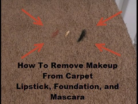 How To Remove Makeup From Carpet