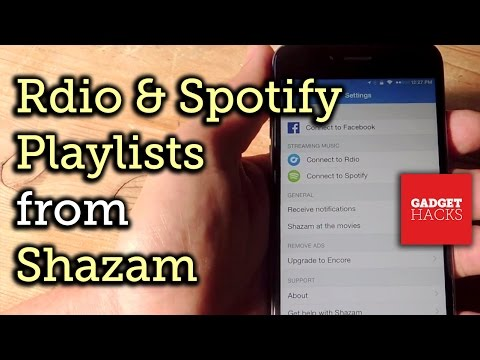 Automatically Turn Shazam Songs into Rdio or Spotify Playlists [How-To]