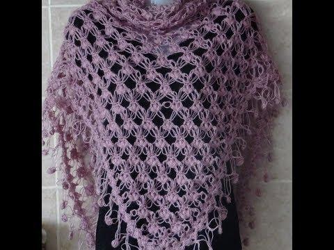 Crochet Pattern * PRETTY AND EASY CROCHET PATTERN FOR A SHAWL*