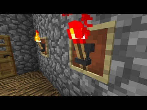 Minecraft: Medieval Torch ( How to Do )
