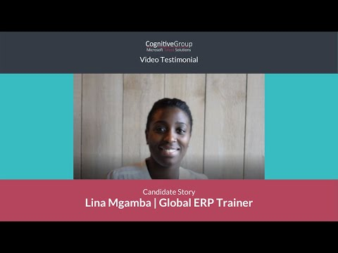 Microsoft Talent Solutions   Lena Mgamba's story   Global ERP Trainer