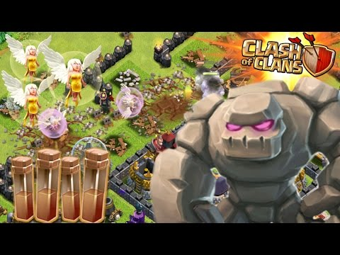 1 GOLEM ALL HEALERS & EARTHQUAKE SPELLS! 3 STAR!?! | Clash Of Clans Attacks | 1 Troop vs Base!