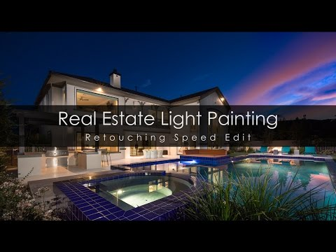 Real Estate Light Painting Composite Photography