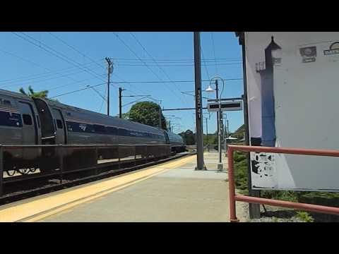 Amtrak stop at Mystic, CT