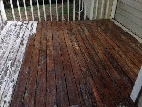How To Remove Deck Paint to Re-stain Your Deck