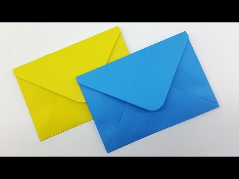 How to make Paper Envelope   Easy Origami Envelope Tutorial   Envelope making with paper