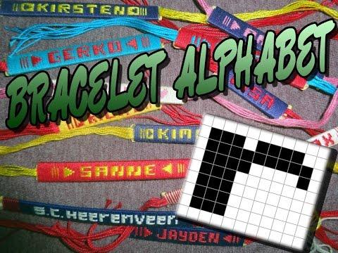 Friendship Bracelet Crochet Yarn, Alphabet: Letter R