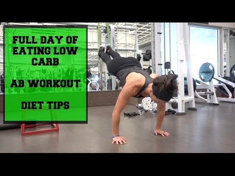 Full Day of Eating Low Carb | Ab Workout | Diet Tips