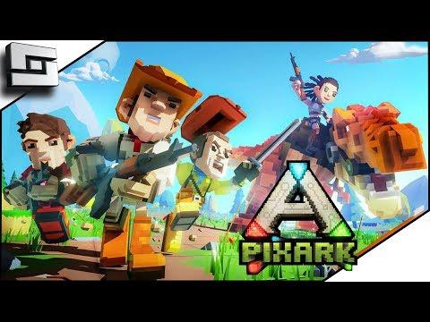 PIXARK! Ark Meets Minecraft! Pooping Evolved Server! Starter House and Taming!