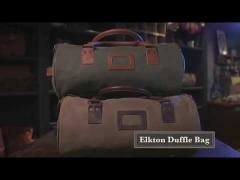 Elton Medium Waxed Canvas and Leather Duffle