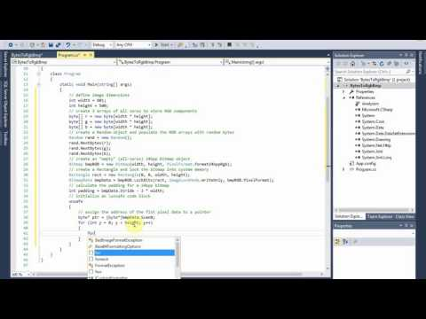 C# Tutorial: 3 byte arrays to RGB bitmap using pointers (unsafe code)