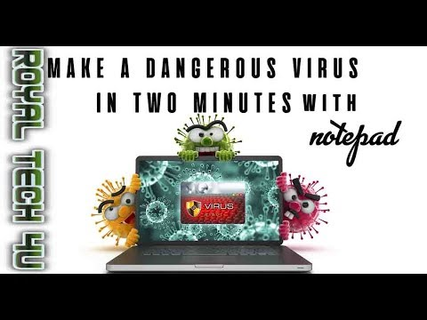 How to make 3 dangerous virus with notepad in 2 minute