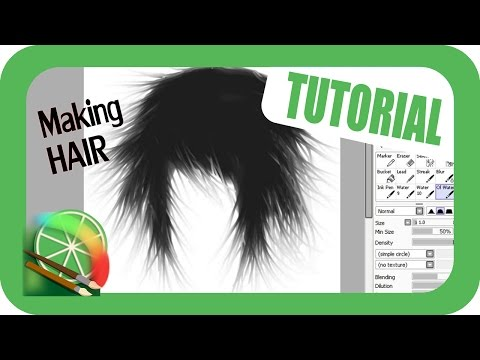 Hair Tutorial using mouse - Paint Tool SAI