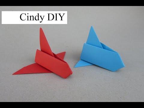 DIY Origami & Paper Craft Tutorial: How to make Nasa rocket | Cindy DIY