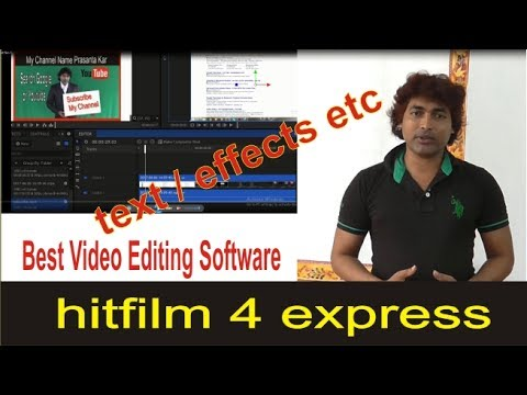 how to make video from images/with Pictures and Music /Hitfilm 4 Express part 4