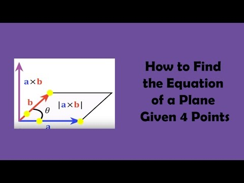 How to Find the Equation of a Plane Given 4 Points