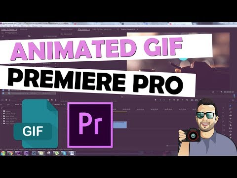 Make ANIMATED GIF for Facebook Cover - PREMIERE PRO Tutorial