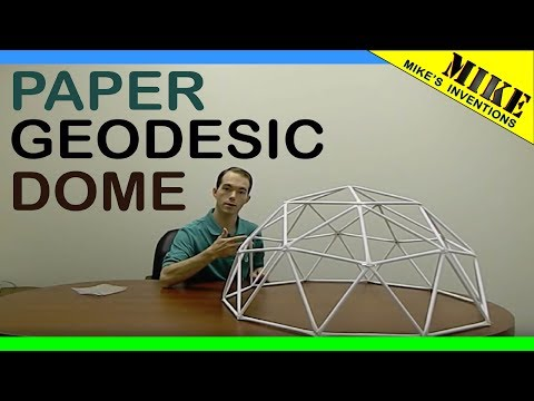 How to Build a Geodesic Dome. Out of Paper.    Mikes Inventions