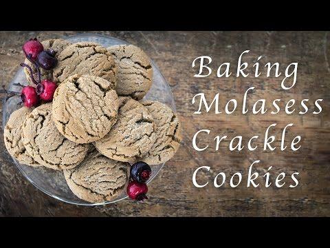 Baking Molasses Crackle Cookies
