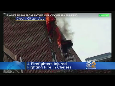 4 Firefighters Hurt Fighting Chelsea Fire