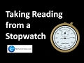 Taking Reading from a Stopwatch | Introduction to Physics