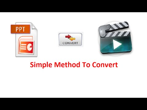 how to convert ppt to video simple and easy method  in Hindi and Urdu language