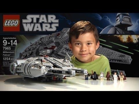 MILLENNIUM FALCON - LEGO Star Wars Set 7965 - Time-lapse Build, Stop Motion, Unboxing & Review