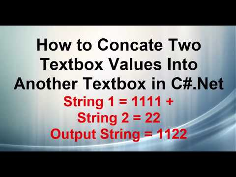 C# Program to Concatenate Two Strings, Remove last two digits of first textbox