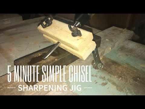 5 Minute Simple Chisel Sharpening Jig