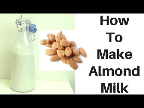 How To Make Almond Milk  (Quick and Easy Recipe)