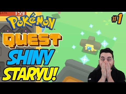 POKEMON QUEST SHINY STARYU! My First Shiny Pokemon in Pokemon Quest!