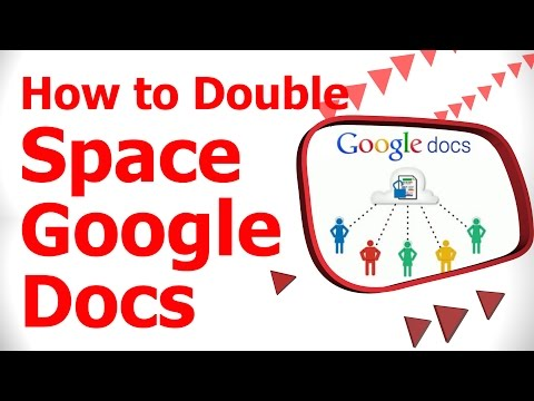 How to Double Space Google Docs
