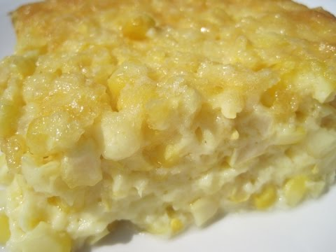 Old Fashioned CORN PUDDING - How to make CORN PUDDING Recipe