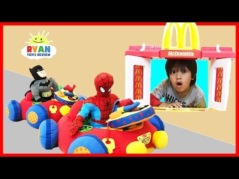 McDonald's Drive Thru Pretend Play Food Toys for Kids w/ Happy Meal Surprise
