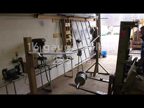 Chain Link Fence Line Top Rail Strength Test