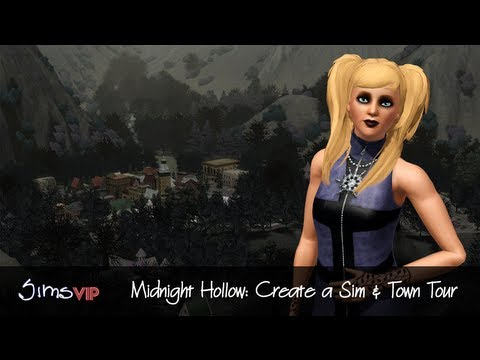 The Sims 3 Midnight Hollow (Part 1): Create a Sim & Town Tour