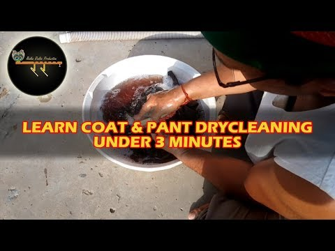 Coat Pant Dry Clean | How To Dry Clean Coat and Pant At Home In Hindi | Radhe Radhe Drycleaners