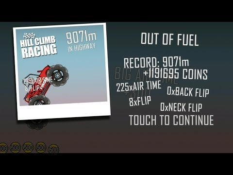 How To Get OVER One Million Coins in Hill Climb Racing Very Easily!