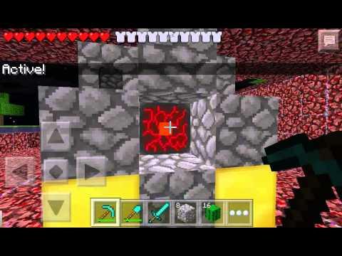 Como acer el portal al nether minecraft pe 0.8.1