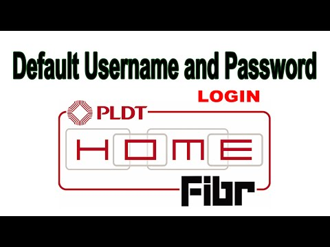 Default Admin Username and Password PLDT Home Fibr Router Page