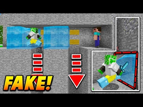 FAKE WATER TUNNEL TRAP! - Minecraft SKYWARS TROLLING (INSANE!)