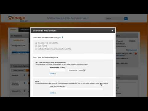 Vonage How-To: Change your Voicemail Settings