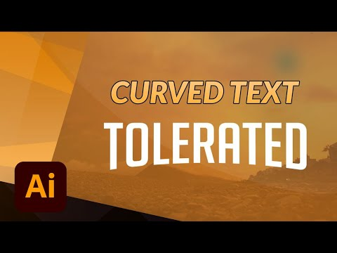 Get Curved-Warped Text in Adobe Illustrator