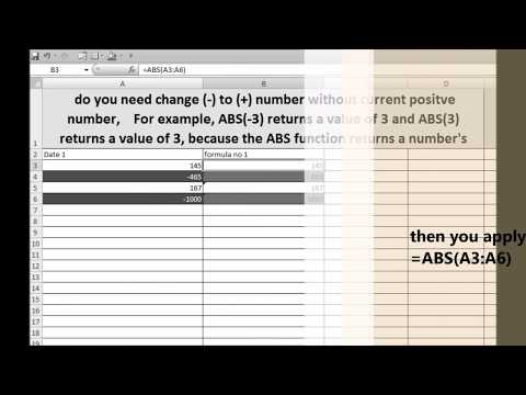 Find the absolute value of a number. using ABS formula excel