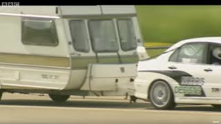 Fastest Caravan Challenge pt 2 - Top Gear - BBC