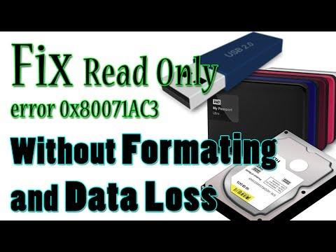 How to Fix Read Only and Fix Dirty Volume in External or Internal HDD | Error 0x80071AC3