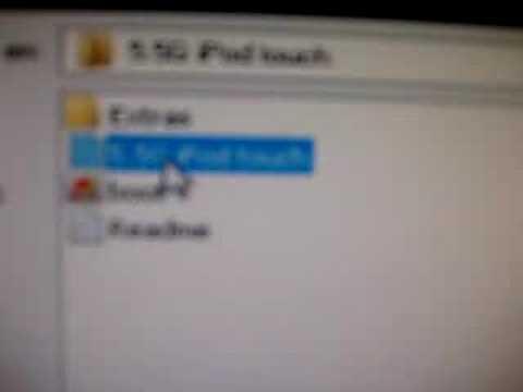 cambiar firmware en ipod video 30gb