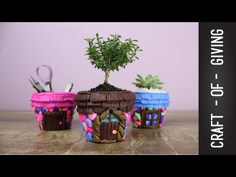 DIY Polymer Clay Fairy Pot Houses | Craft of Giving