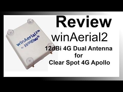 Review Sprint Clear Spot 4g Apollo WinAerial2 12dBi Dual Antenna